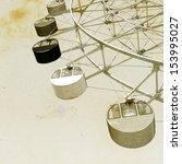 Vintage View Of Ferris Wheel...