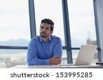 happy young business  man work... | Shutterstock . vector #153995285