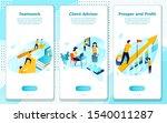 vector mobile illustration set  ... | Shutterstock .eps vector #1540011287