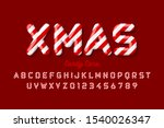 christmas candy cane font ... | Shutterstock .eps vector #1540026347