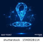 hologram map point. geolocation ... | Shutterstock .eps vector #1540028114