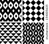 seamless patterns black and... | Shutterstock .eps vector #154005635