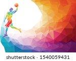 polygonal geometric basketball... | Shutterstock .eps vector #1540059431