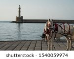 Chania Crete Old Town Harbour...