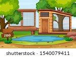 background scene of zoo park... | Shutterstock .eps vector #1540079411