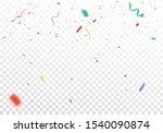 colorful confetti celebrations...   Shutterstock .eps vector #1540090874