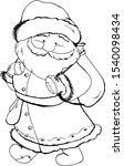 Cute Silhouette Of Santa Claus...