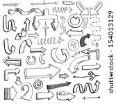 vector illustration of set of... | Shutterstock .eps vector #154013129