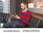 young man working in the office ... | Shutterstock . vector #1540139054