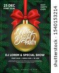 christmas party flyer design.... | Shutterstock .eps vector #1540153214