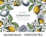ink hand drawn citrus fruits... | Shutterstock .eps vector #1540156781