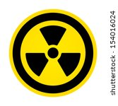 hazard radioactivity sign | Shutterstock .eps vector #154016024