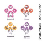 theory of generations color... | Shutterstock .eps vector #1540160954