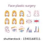 face plastic surgery color line ...   Shutterstock .eps vector #1540168511