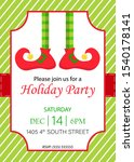 holiday party invitation with... | Shutterstock .eps vector #1540178141