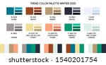 new fashion color trend winter... | Shutterstock .eps vector #1540201754