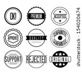 retro badges vector | Shutterstock .eps vector #154020674