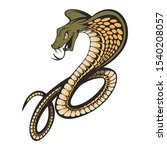 king cobra with hood. snake... | Shutterstock . vector #1540208057