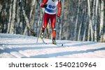Winter Ski Marathon Athlete...