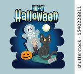 halloween party invitations or ... | Shutterstock .eps vector #1540228811