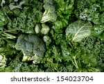 green vegetables and dark leafy ... | Shutterstock . vector #154023704
