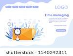 time management concept web...