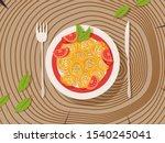 italian pasta on a plate ... | Shutterstock .eps vector #1540245041