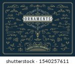 vintage set of swirls and... | Shutterstock .eps vector #1540257611
