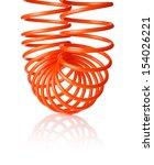 orange red thin spiral air hose ... | Shutterstock . vector #154026221