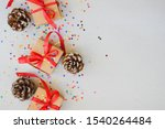 christmas background with gift ... | Shutterstock . vector #1540264484