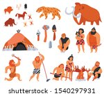 primitive men their tools and... | Shutterstock .eps vector #1540297931