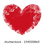 valentine heart   grunge vector ...
