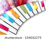 Colorful Musical Concept With...