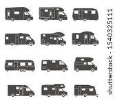 camping trucks black glyph... | Shutterstock .eps vector #1540325111