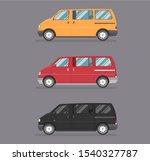 passenger vintage colour van.... | Shutterstock .eps vector #1540327787
