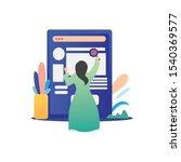 concept of employee care ...   Shutterstock .eps vector #1540369577