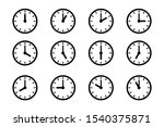 set of clock icon  isolated...   Shutterstock .eps vector #1540375871
