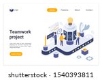 teamwork project landing page... | Shutterstock .eps vector #1540393811
