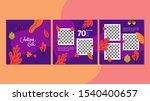 autumn sale banner template for ... | Shutterstock .eps vector #1540400657