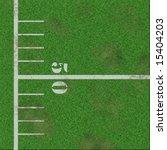 Illustration Of 50 Yard Line On ...