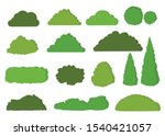 green bushes vector icon set...   Shutterstock .eps vector #1540421057