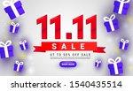 11.11 creative special offer... | Shutterstock .eps vector #1540435514