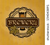 retro styled label of beer.... | Shutterstock .eps vector #154043891