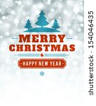 christmas light vector... | Shutterstock .eps vector #154046435