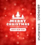 christmas light vector... | Shutterstock .eps vector #154046489