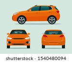 compact cuv car set isolated.... | Shutterstock .eps vector #1540480094