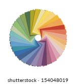 Paint Samples In Color Wheel...