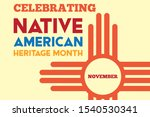 national native american... | Shutterstock .eps vector #1540530341