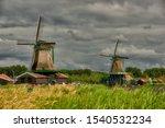 Zaandam  Holland  An Old Mill...