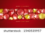 christmas background with... | Shutterstock .eps vector #1540535957
